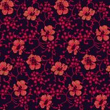 Fondo floral intrépido de la flor del vintage inconsútil libre illustration