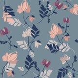 Fondo floral linear, modelo de flores libre illustration