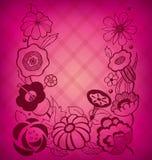 Fondo floral magenta stock de ilustración