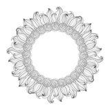 Fondo floral monocromático del vector Fotografía de archivo libre de regalías