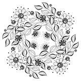 Fondo floral monocromático del vector libre illustration