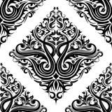 Fondo floral negro stock de ilustración