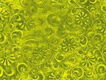 Fondo floral ornamental verde Imagenes de archivo