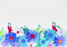 Fondo floral Pintura de la acuarela ilustración del vector