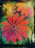 Fondo floral quemado Imágenes de archivo libres de regalías