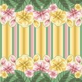 Fondo floral rayado Foto de archivo