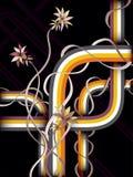Fondo floral retro Imagen de archivo