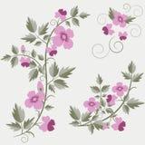 Fondo floral retro del vector con las flores Imagen de archivo libre de regalías