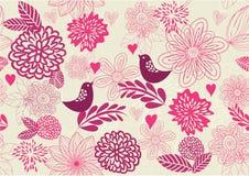Fondo floral retro inconsútil en vector libre illustration