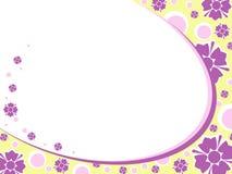 Fondo floral retro oval stock de ilustración