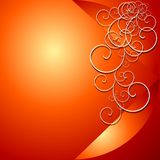 Fondo floral rojo ilustración del vector
