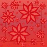 Fondo floral rojo cuadrado Espacio para el texto Extracto colorido Fotos de archivo libres de regalías