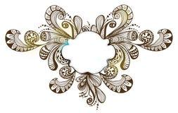 Fondo floral romántico con la escritura de la etiqueta Imagen de archivo libre de regalías