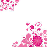 Fondo floral rosado. Imagen de archivo