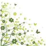 Fondo floral verde Imagenes de archivo