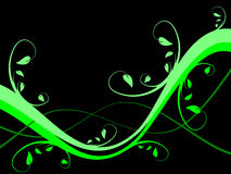 Fondo floral verde ilustración del vector