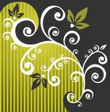 Fondo floral verde stock de ilustración