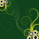 Fondo floral verde abstracto Fotografía de archivo