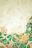 Fondo floral verde abstracto ilustración del vector