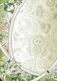 Fondo floral verde abstracto libre illustration