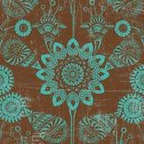 Fondo floral verde y marrón Fotos de archivo libres de regalías