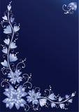 Fondo floral vertical. Azul Imágenes de archivo libres de regalías