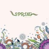 Fondo floral y ornamental del artículo de la primavera Flores abstractas colorido Foto de archivo libre de regalías