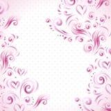 Fondo floreale astratto con i cuori nel rosa royalty illustrazione gratis