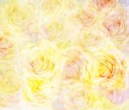 Fondo floreale astratto scenico con le rose Fotografie Stock