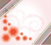 Fondo floreale con i fiori e le scintille della molla Immagini Stock