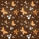 Fondo floreale con la farfalla. illustrazione vettoriale