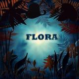 Fondo floreale con luce mistical Fotografia Stock