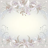 Fondo floreale dei fiori bianchi di Lilia Fotografia Stock
