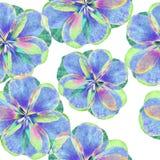 Fondo floreale del batik di lerciume di arte Colori pastelli di Stylization, acquerelli Contesto senza cuciture con i fiori Model Fotografia Stock Libera da Diritti