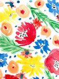 Fondo floreale dell'acquerello Fotografia Stock Libera da Diritti