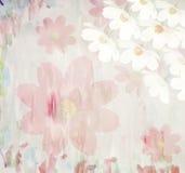 Fondo floreale dell'acquerello di estate pittoresca, illustrazione vettoriale