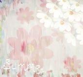 Fondo floreale dell'acquerello di estate pittoresca, royalty illustrazione gratis