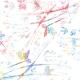 Fondo floreale dell'acquerello. Fondo astratto dell'acquerello. Fotografia Stock Libera da Diritti