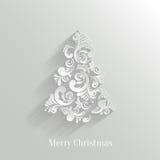 Fondo floreale dell'albero di Natale di Absrtact Fotografie Stock