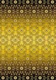 Fondo floreale dell'oro del ondel modellodell'oro senza cuciture Fotografie Stock
