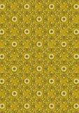 Fondo floreale di giallo del ondel modello dell'orod'annata senza cuciture Immagini Stock Libere da Diritti