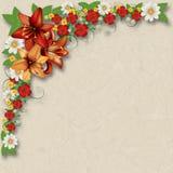 Fondo floreale di lerciume astratto con i fiori della molla Fotografia Stock Libera da Diritti