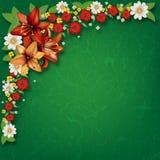 Fondo floreale di lerciume astratto con i fiori della molla Immagini Stock