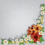 Fondo floreale di lerciume astratto con i fiori della molla Fotografie Stock