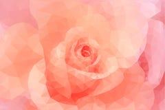 Fondo floreale di nozze di rosa di modo del poligono astratto del triangolo Immagini Stock