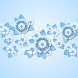 Fondo floreale di vettore con i fiori blu-chiaro 3d Fotografia Stock Libera da Diritti