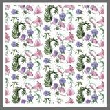Fondo floreale, modello Fotografia Stock
