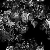 Fondo floreale nero Fotografia Stock Libera da Diritti
