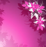 Fondo floreale porpora royalty illustrazione gratis