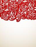 Fondo floreale rosso Fotografie Stock Libere da Diritti